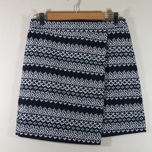 Loft faux wrap skirt